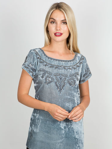 Rachel Cap Sleeve Top
