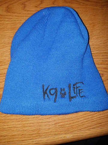 Beanie Cap - Blue with black lettering