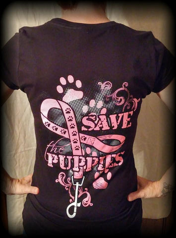 Women's Save The Puppies Tshirt