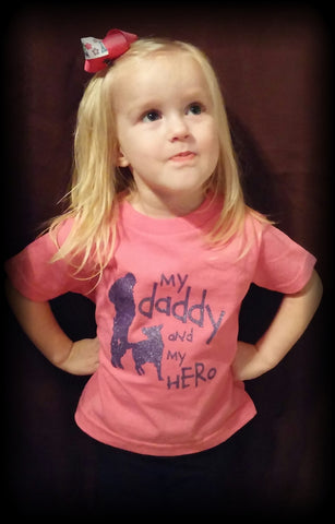 Kids - Pink My Daddy and My Hero T-shirt