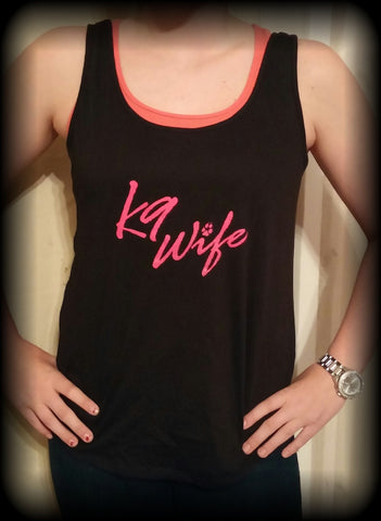 Women's Tank-Top Pink K9 Wife