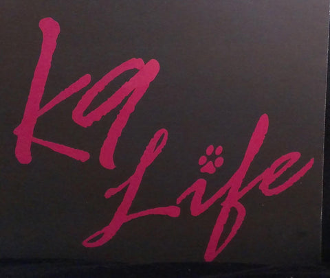 z Decal - Pink K9 Life