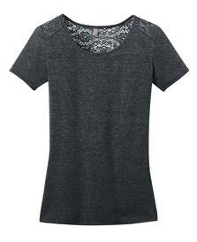 District Made Ladies Tri-Blend Lace Tee (Available in 4 Colors)