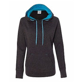 J America Ladies' Ladies' Cosmic Contrast Fleece Hood JA8616 (Available in 11 colors)