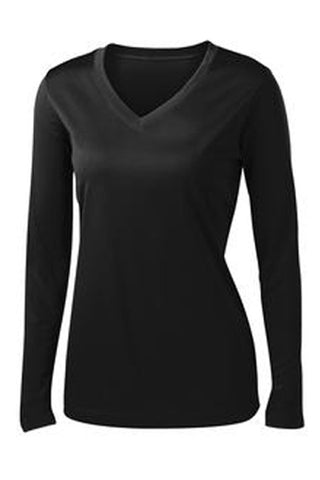 Sport-Tek® Ladies Long Sleeve V-Neck PosiCharge™ Competitor™ Tee (Available in 10 Colors)