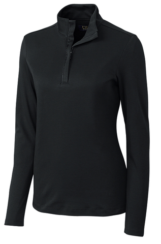Ladies' Long Sleeve Belfair Pima Half Zip (Available in 4 Colors)