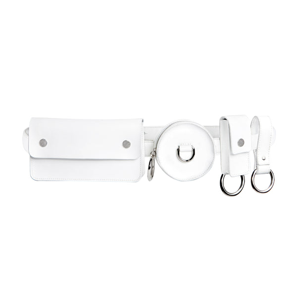 3-Pocket Belt - White