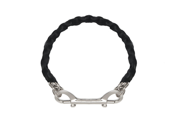 Covered Chain Necklace - Black