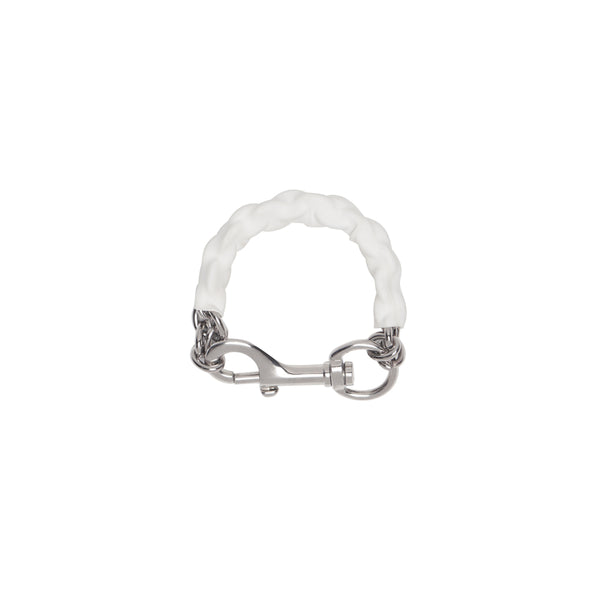 Covered Chain Bracelet - White