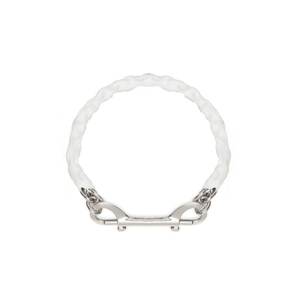 Covered Chain Necklace - White