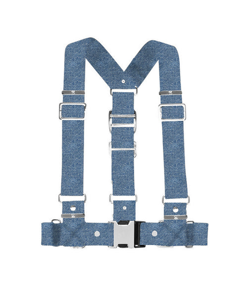 "2"" Statement Buckle Denim Harness"