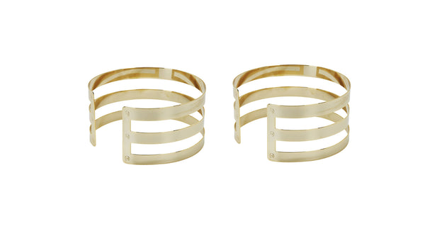 Triple Stripe Cuff Set