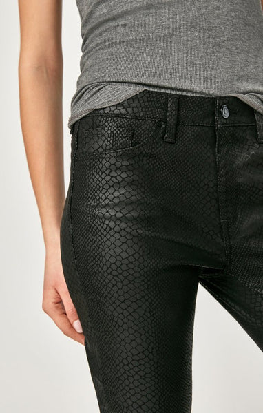 Tess High Waist Jeans - Black Snake
