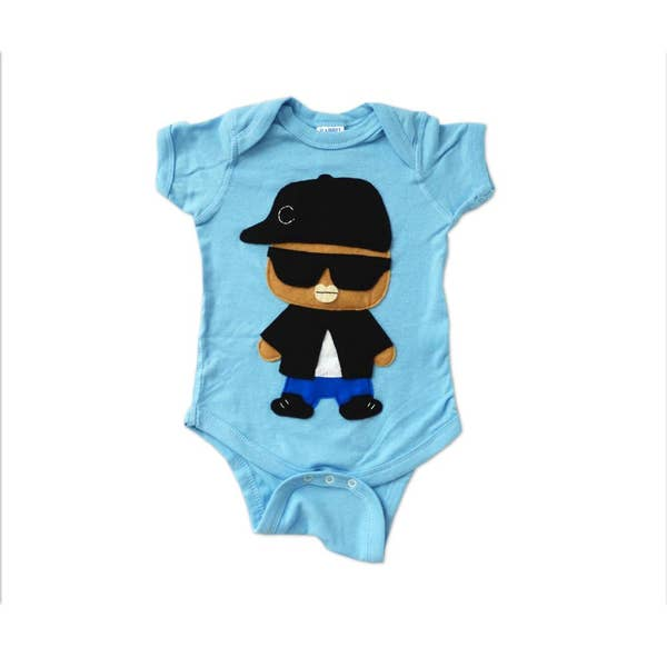 Hip Hop Onesie - Rad Rapper - Sunglasses