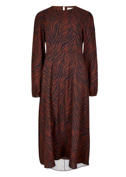 Zebra Print Dress - Rust