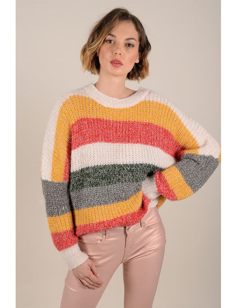 Striped Sweater - Saffron
