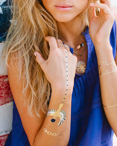 LULU DK Golden I Temporary Tattoos