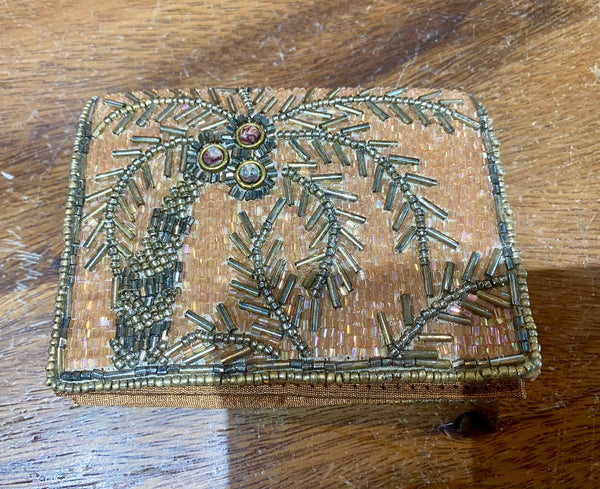 Rose Beaded Wallet
