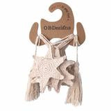 Starfish crochet bunting - Natural