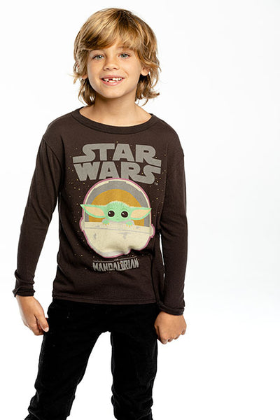 Star Wars Boys Cloud Jersey Longsleeve Crew Neck Tee