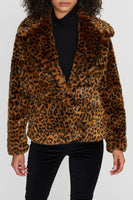 Wild Faux Fur Coat -  Leopard