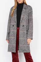 Carlyle Coat - Abstract Plaid