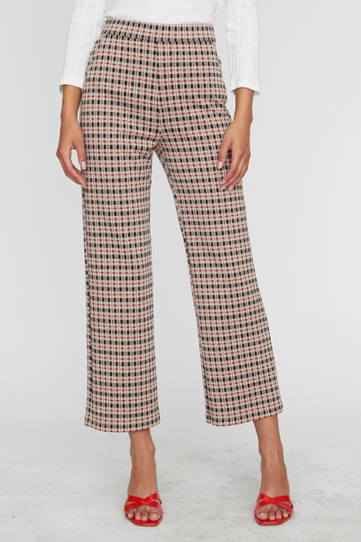 The Runway Crop Pants - Spectrum Plaid