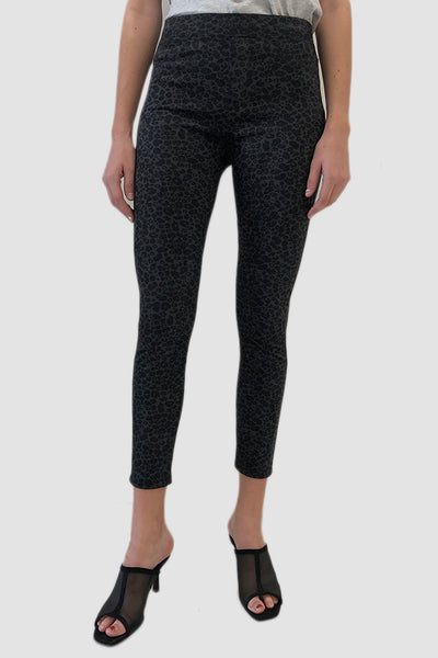 Runway Legging - Grey Leo Faux Suede