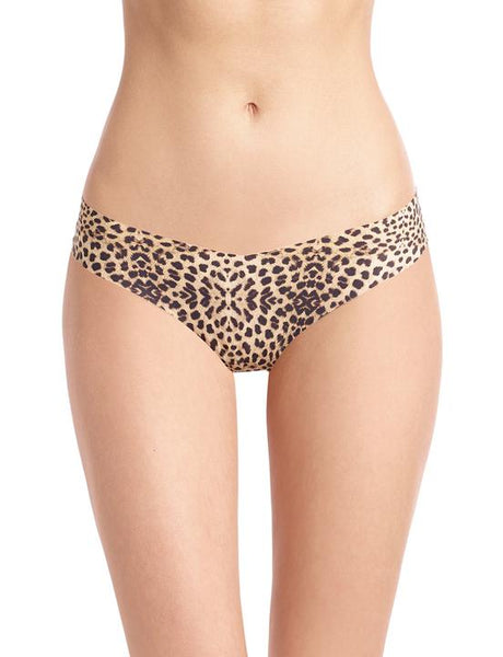 Clouded Leopard Print Thong