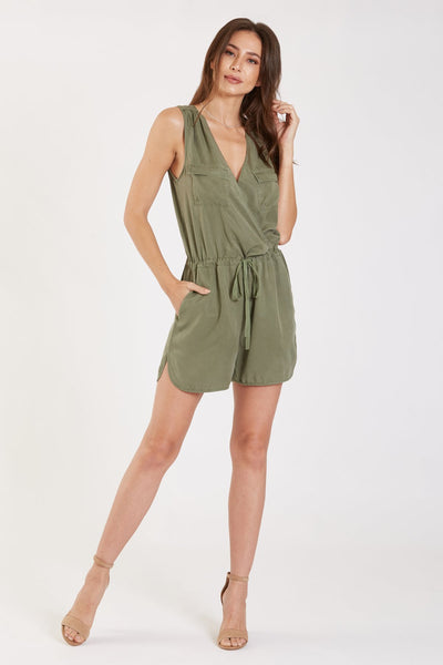 Mable Washed Sleeveless Romper