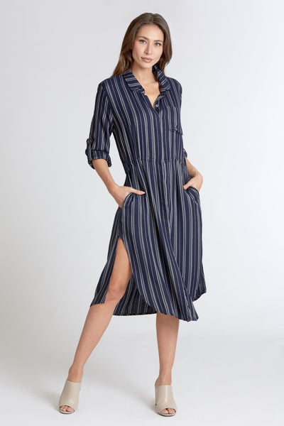 Cassandra Longline Shirtdress - After Midnight