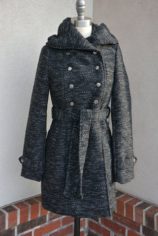 Coffeeshop Santa Fe Coat Metallic Black