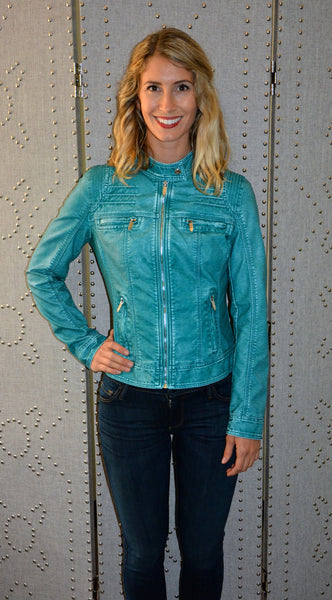 Vegan Leather Motorcycle Jacket