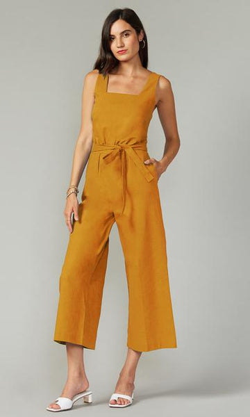 Loella Linen Square Neck Jumpsuit