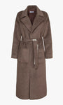 Taylor Brushed Robe Style Belted Coat - Chocolate Brown