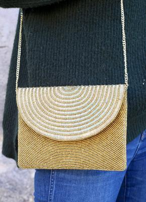 Goldie Beaded Crossbody