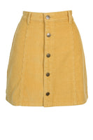 Laps Around the Sun Mini Skirt - Golden Yellow
