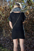 Miilla Scoop Neck Knit Short Sleeve Dress Black