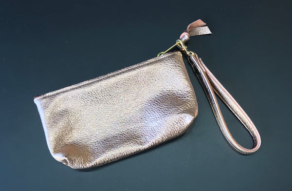 Pencil Pouch - Metallic / Rose