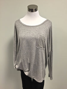 Hem & Thread Stone Pix Top