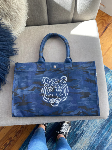East Silver Tiger Blue Camo Bag