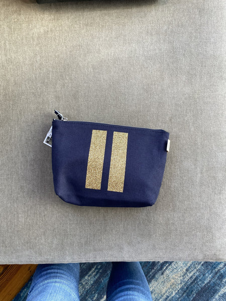 Double Stripe Make-Up Bag