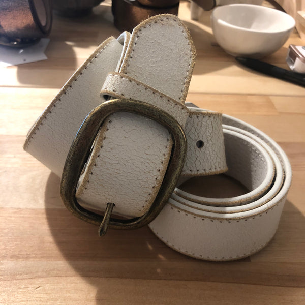 Off-White Leather Belt