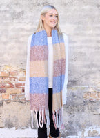 Grant Plaid Soft Scarf with Fringe