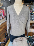 Cable Wrap Front Sweater