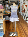 Striped Muscle Tank - Navy