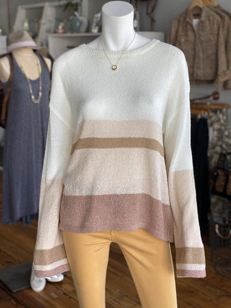 Wide Arm Color Block Sweater