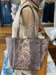 Snakeskin and Blush Reversible Purse