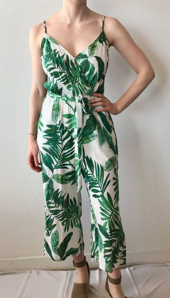 Palm Leaf Capri Jumpsuit