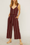 Sedona Jumpsuit in Henna Stripe